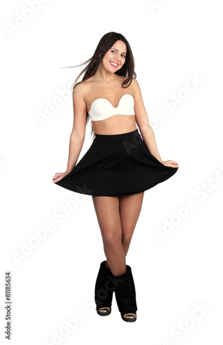 cd71bb6c43c8 Lovely sexy girl in short skirt - Buy this stock photo and explore ...
