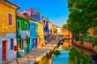 canvas print picture - Burano, Italien