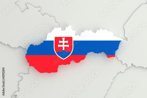 Photo  Slovakia 3D map FLAG version