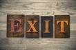Exit Wooden Letterpress Theme