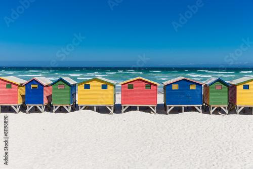 Fototapeta premium Łaźnie w Muizenberg w Kapsztadzie