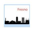 Fresno California skyline Detailed vector silhouette