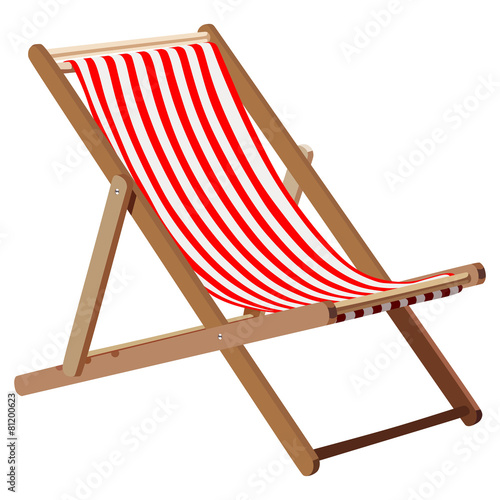 Deckchair Canvas Print