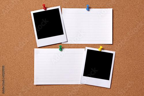 Fotografie, Obraz  Blank photos with index cards