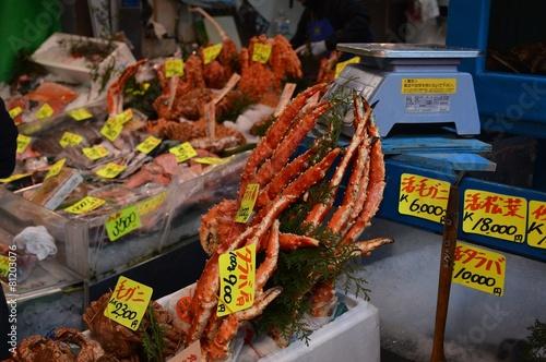 Fotografie, Obraz  Tsukiji Fischmarkt in Tokio, Japan