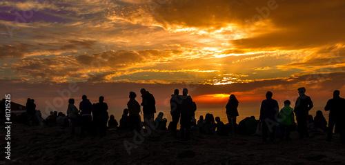 Puesta de sol compartida Canvas Print