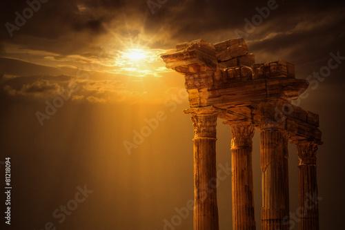 Plakat Apollon Temple, Antalya City, Side
