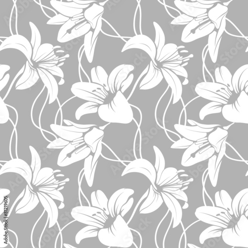 Foto Vector lilly seamless pattern