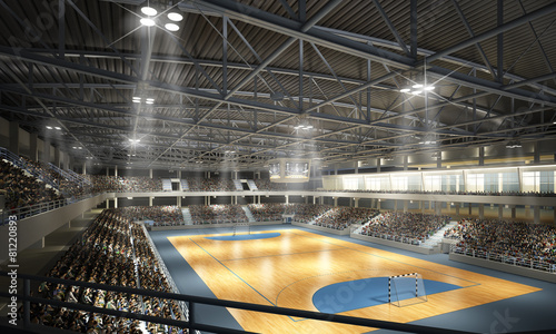 fototapeta na ścianę Handballhalle