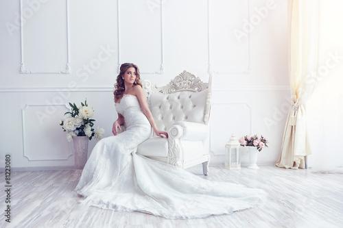 Young beautiful bride Fototapeta