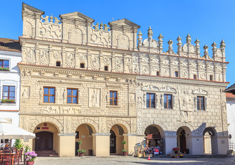 Fototapeta Architektura Kazimierz Dolny, renesansowe kamienice Krzysztofa i Mikołaja