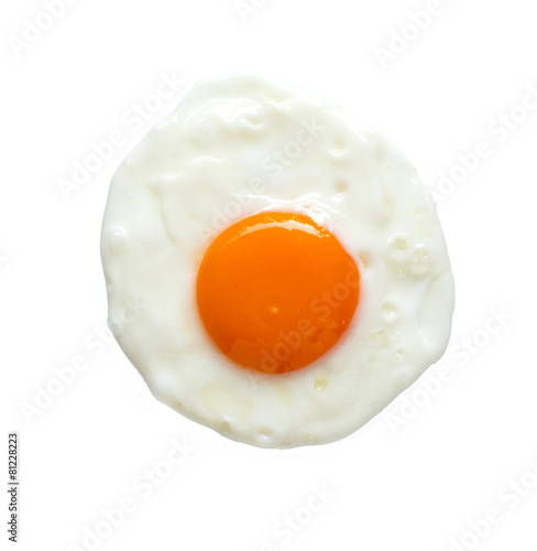 Foto op Plexiglas Gebakken Eieren Top view of fried egg