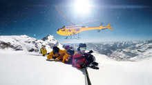 Snowboarder Were Dropped By A Helicopter While Taking Selfie