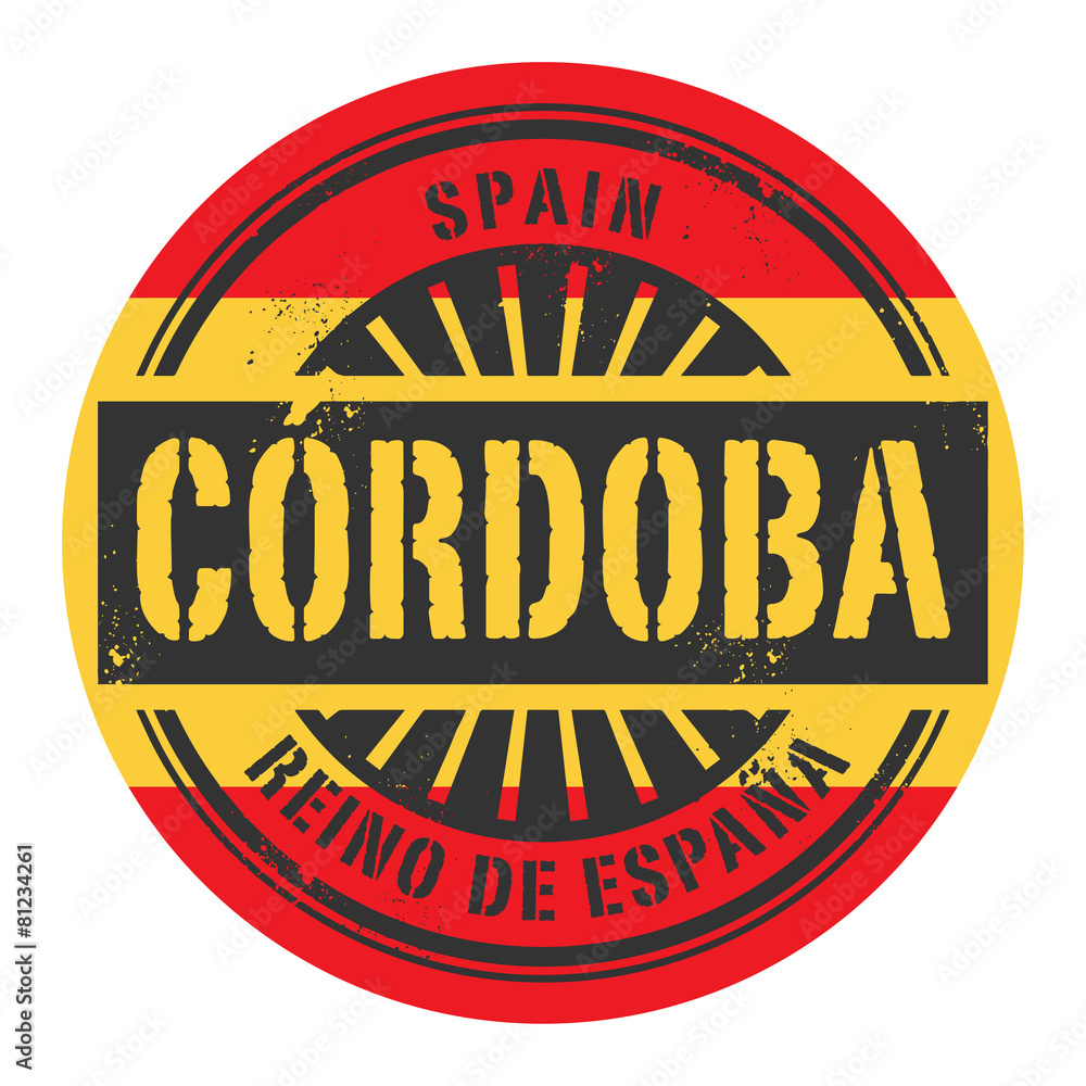 Grunge Rubber Stamp With The Text Spain Cordoba Foto Poster Wandbilder Bei EuroPosters