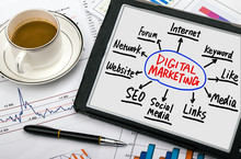 Digital Marketing Concept Hand...
