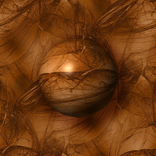 Abstract Brown Globe