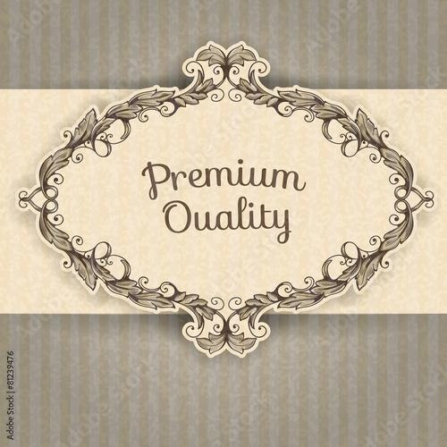 Papiers peints Affiche vintage Vector vintage border frame