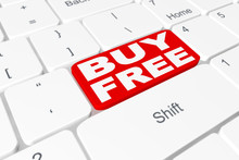 """Button """"BUY FREE"""" On Keyboard"""
