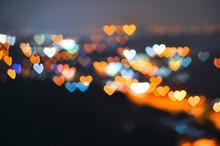 Valentine Hearts Abstract Background Of Kuala Lumpur City