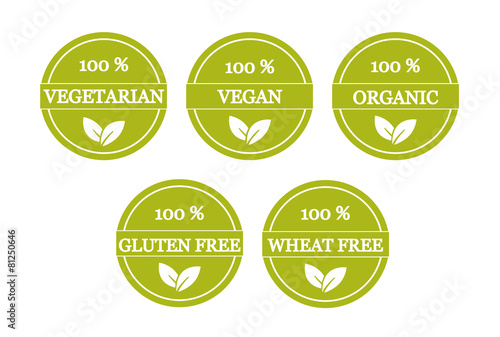 Set of vegetarian and gluten free icons - Buy this stock vector and