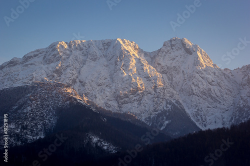 Giewont, most recognizable mountain massif in Poland