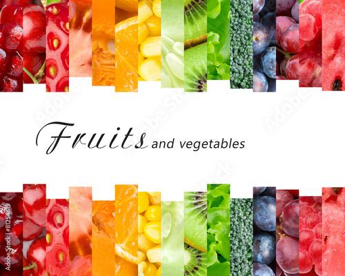 Deurstickers Keuken Fresh fruits and vegetables