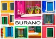 Leinwandbild Motiv Colorful window of a house on the Venetian island of Burano
