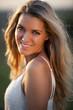 canvas print picture - Portrait von schöner Frau mit blonden Haaren
