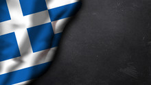 Griechische Flagge Auf Schiefertafel