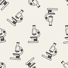 FototapetaDoodle Microscope seamless pattern background