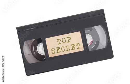 Fotomural Retro videotape isolated on white