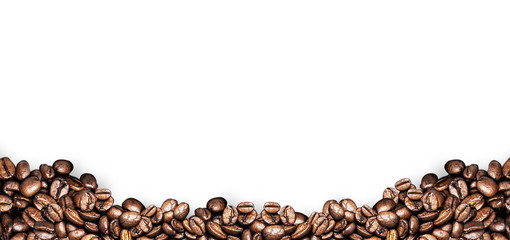 Fototapeta Kawa coffee beans white background