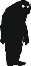Silhouette Of Yeti