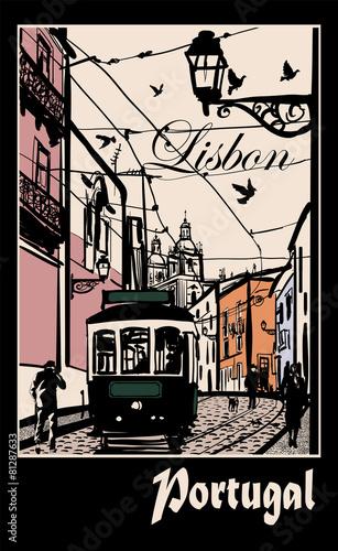 typowa-architektura-i-tramwaj-w-lizbonie