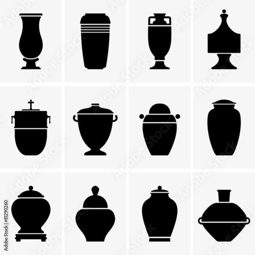 Cremation urns Fotobehang