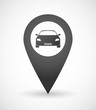Map mark icon with a car