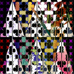 Fototapeta Do pokoju chłopca abstract geometric pattern background, with strokes, splashes an