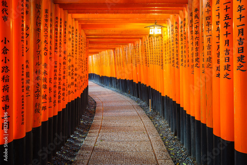 Canvas Prints Japan Torii gates in Fushimi Inari Shrine, Kyoto, Japan