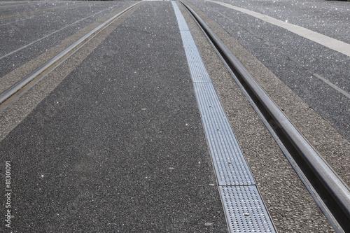 Photo  Tram Tracks on Street, Dublin