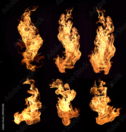 Door stickers Fire / Flame flame