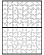 Vector illustration of two white puzzles