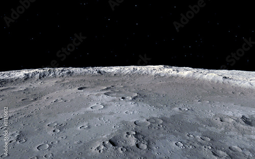 Foto Moon scientific illustration