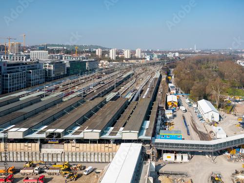 Foto auf AluDibond Bahnhof Stuttgart 21 Baustelle