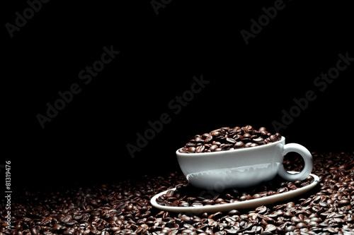 Spoed Foto op Canvas koffiebar Kaffee Hintergrund