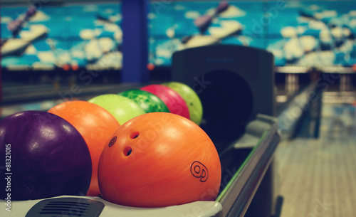 Leinwand Poster bowling