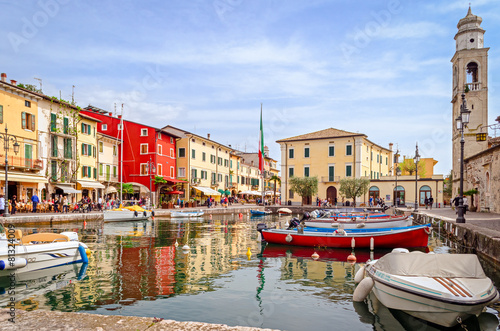 Fotografie, Obraz Lazise, Lago di Garda, Itálie
