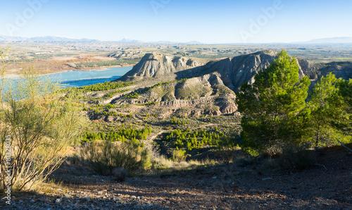 Landscape with Negratin reservoir near Baza Canvas Print