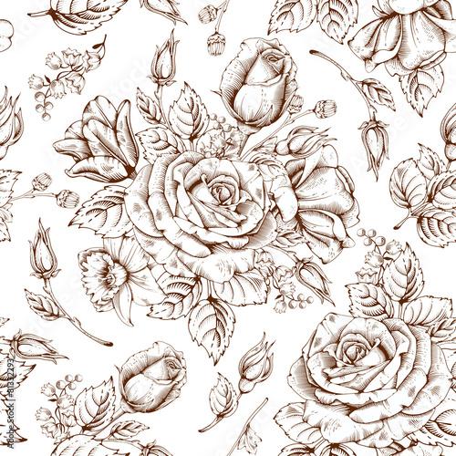 Tapety Vintage  luksusowa-roza