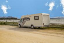 Modern Caravan Beside Sea, Spr...