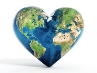Heart shaped earth
